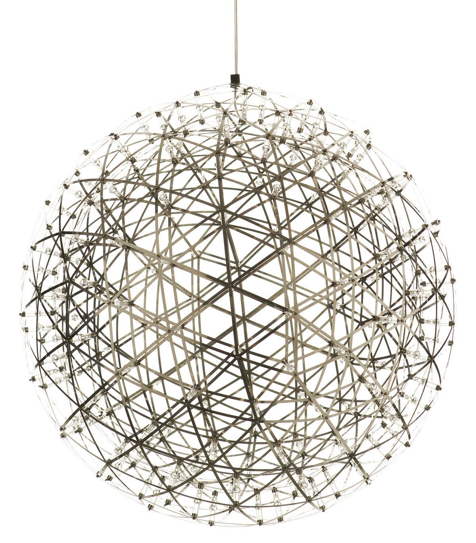 Luminaire - Suspensions - Suspension Raimond LED / Ø 43 cm - Moooi - Ø 43 cm - Acier poli - Acier inoxydable, Aluminium