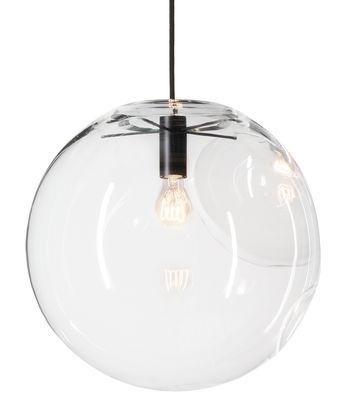 Luminaire - Suspensions - Suspension Selene / Ø 45 cm - Verre soufflé bouche - ClassiCon - Noir / Transparent - Métal laqué, Verre soufflé bouche