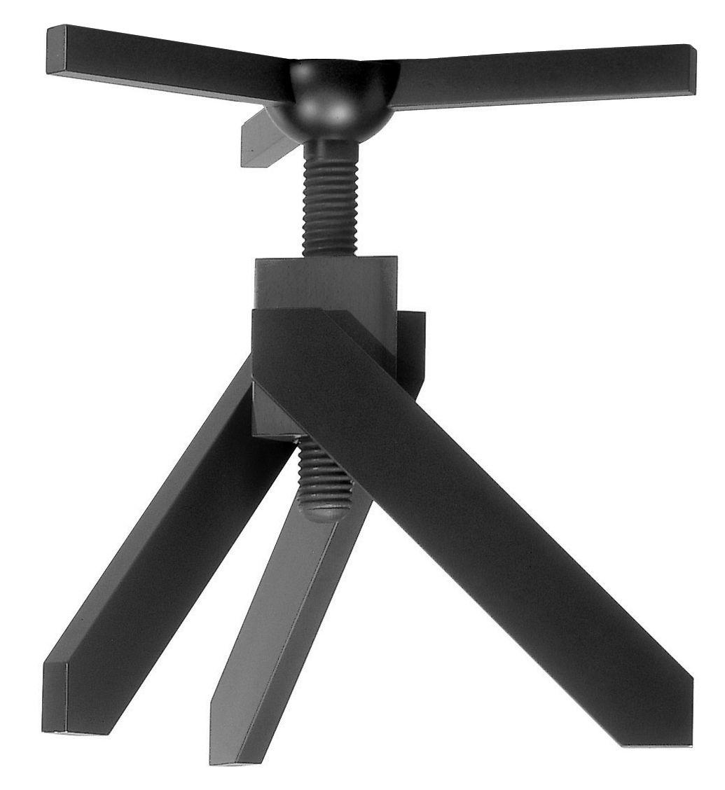 Mobilier - Tables - Table à hauteur réglable Vidun / Ø 130 cm - De Padova - Noir - Hêtre, Verre