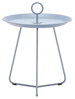 Table basse Eyelet Small / Ø 45 x H 46,5 cm - Houe bleu en métal