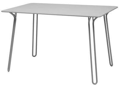 Table Surprising / 120 x 78 cm - Fermob gris métal en métal