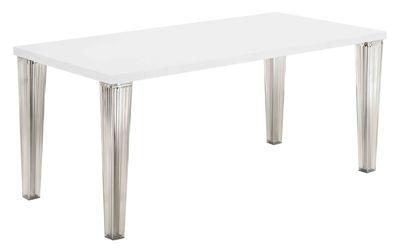 Table Top Top - Crystal / Verre - L 190 cm - Kartell blanc en verre