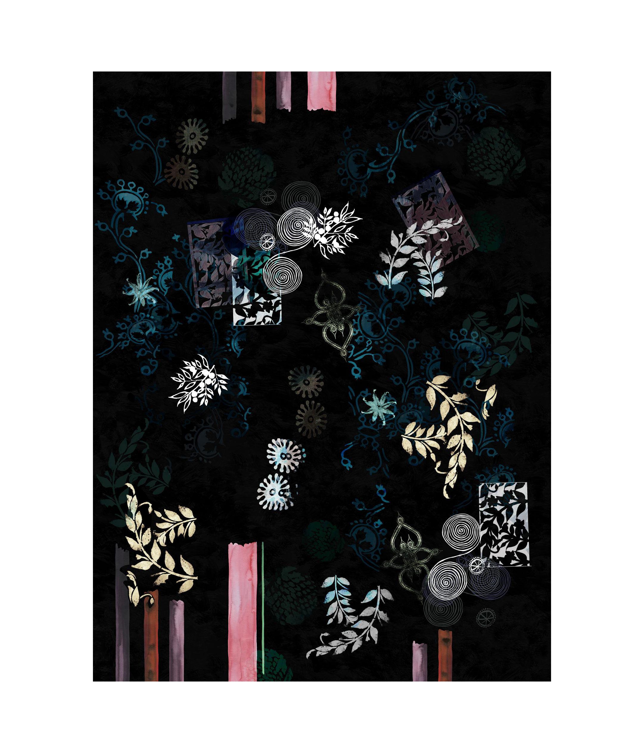 Déco - Tapis - Tapis Le Temple Jais / 200 x 300 cm - Moooi Carpets - Noir - Polyamide