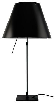 Costanza Tischleuchte / Fuß schwarz - Luceplan - Schwarz