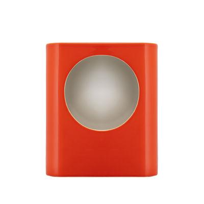 Leuchten - Tischleuchten - Signal Large Tischleuchte / Céramique - Fait main / H 35 cm - raawii - Orange Tangerine - Keramik