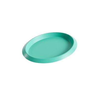 Tableware - Trays - Ellipse XS Tray - / 16 x 12 cm - Metal by Hay - Green - Painted steel