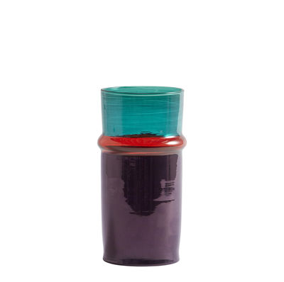 Decoration - Vases - Moroccan Small Vase - / Ø 9.5 x H 20.5 cm by Hay - Purple & blue - Recycled blown glass