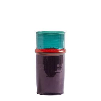Déco - Vases - Vase Moroccan Small / Ø 9,5 x H 20,5 cm - Hay - Violet & bleu - Verre soufflé recyclé