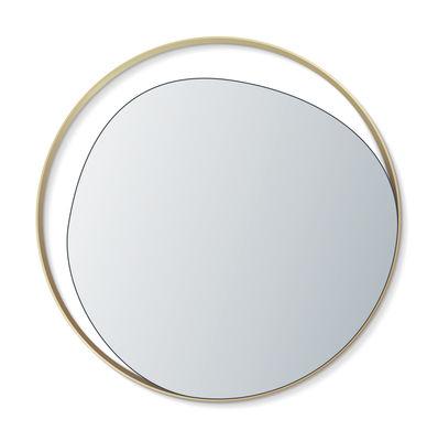 Decoration - Mirrors - Ellipse Wall mirror - / Ø 80 cm by RED Edition - Silver mirror / Brass - Brass, Glass, Wood