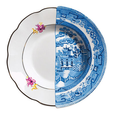 Arts de la table - Assiettes - Assiette creuse Hybrid Fillide Ø 25,4 cm - Seletti - Fillide - Porcelaine