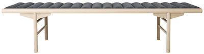 Mobilier - Bancs - Banquette Daybed / L 180 cm - Bois & tissu - Menu - Gris / Bois clair - Bois, Feutre de laine, Mousse