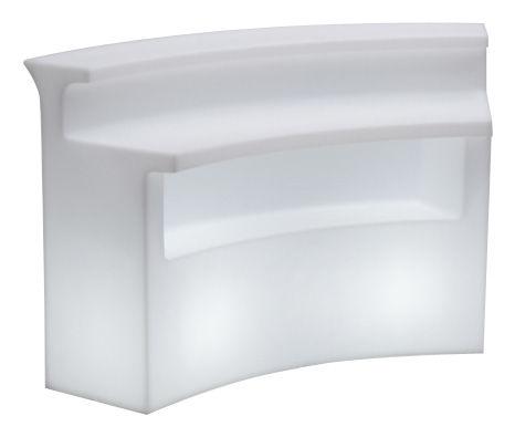 Mobilier - Mange-debout et bars - Bar lumineux Break Bar / L 175 cm - Slide - Blanc - Polyéthylène rotomoulé