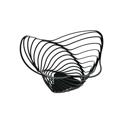 Tableware - Fruit Bowls & Centrepieces - Trinity Basket - / Ø 16.5 x H 33 cm by Alessi - Black - Steel