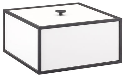 Decoration - Decorative Boxes - Frame Box by by Lassen - 20cm / White & black - Lacquered MDF, Lacquered steel