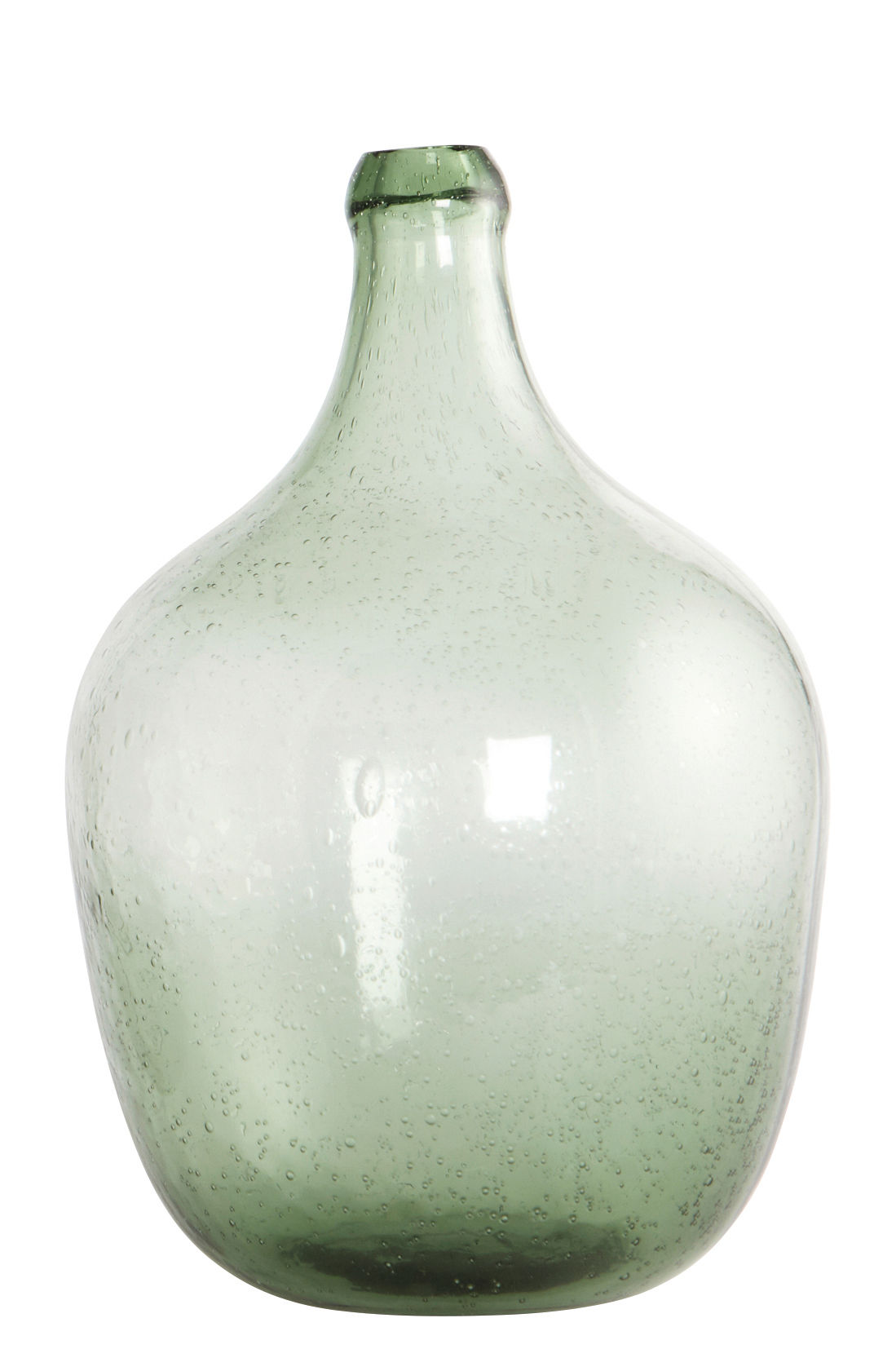 Decoration - Vases - Bottle Bud vase - Mouthblow glass - H 28,5 cm by House Doctor - Light green - Mouth blown glass