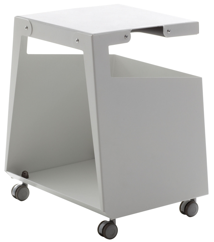 Mobilier - Meubles de rangement - Caisson à roulettes Smith L 32 cm / Meuble ordinateur - Danese - Blanc - Acier verni