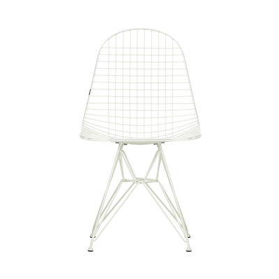 Furniture - Chairs - Wire Chair DKR Chair - / By Charles & Ray Eames, 1951 by Vitra - White - Epoxy lacquered steel