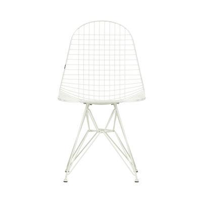 Mobilier - Chaises, fauteuils de salle à manger - Chaise Wire Chair DKR / By Charles & Ray Eames, 1951 - Vitra - Blanc - Acier laqué époxy