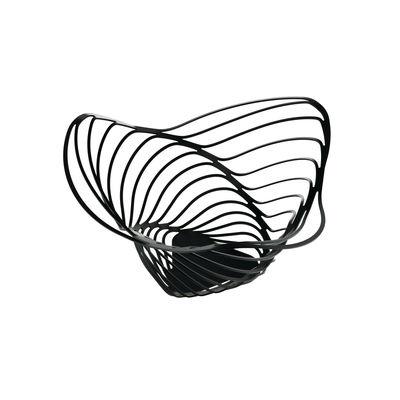 Corbeille Trinity / Ø 16,5 x H 33 cm - Alessi noir en métal
