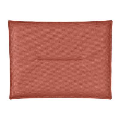 Jardin - Poufs, coussins & tapis d'extérieur - Coussin d'assise / Pour chaise Bistro - 38 x 28 cm - Fermob - Stéréo Ocre rouge - Mousse polyéthylène, Tissu outdoor Batyline