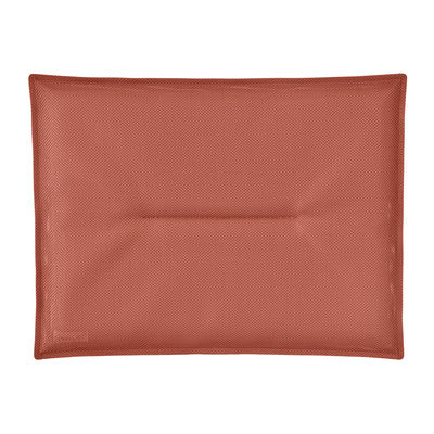 Coussin d'assise / Pour chaise Bistro - 38 x 28 cm - Fermob rouge en tissu