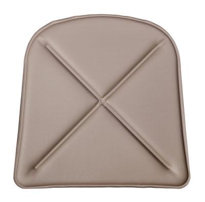 Galette d'assise / Similicuir - Pour chaise A et fauteuil A56 - Tolix taupe en cuir