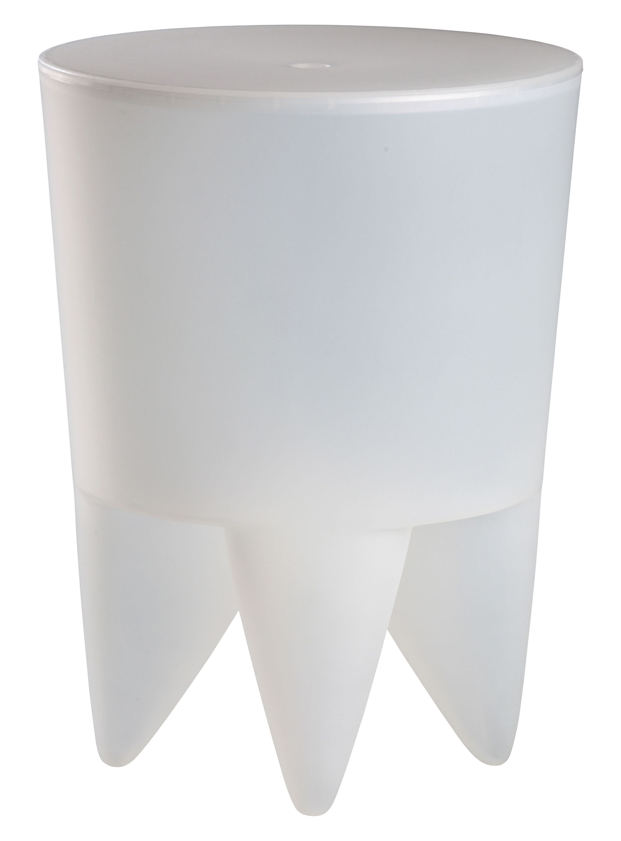 Möbel - Möbel für Teens - New Bubu 1er Hocker Durchsichtig - XO - Weiß durchsichtig - Polypropylen