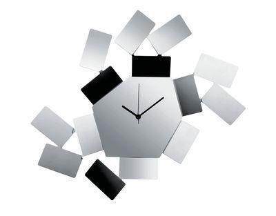 Horloge murale La Stanza dello Scirocco / L 46 x H 33,5 cm - Alessi acier brillant en métal