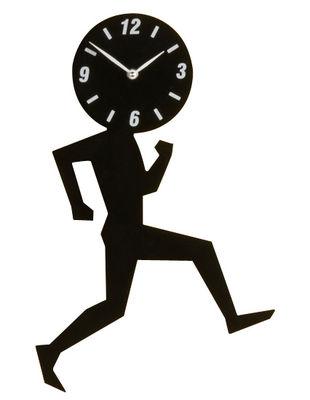 Déco - Horloges  - Horloge murale Uomino Small / H 32 cm - Diamantini & Domeniconi - Noir - Acier inoxydable laqué