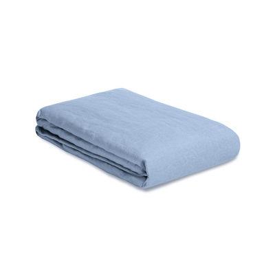Housse de couette 240 x 220 cm / Lin lavé - Au Printemps Paris bleu en tissu