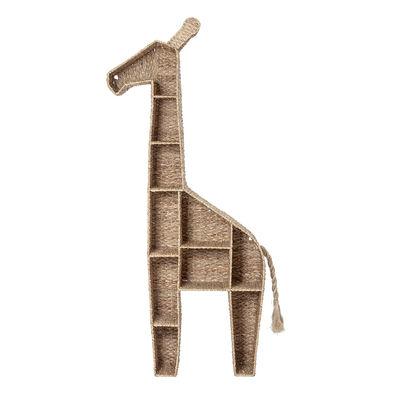 Arredamento - Scaffali e librerie - Libreria Girafe - / da appoggio - L 46 x H 148 cm di Bloomingville - Naturale - Ferro, Fibra vegetale