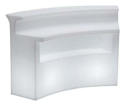 Furniture - High Tables - Break Bar Luminous bar by Slide - White - Recyclable rotomoulded polyethylene