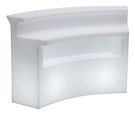 Furniture - High Tables - Break Bar Luminous bar by Slide - White - roto-moulded polyhene