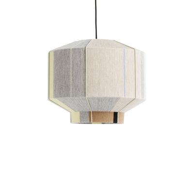 Illuminazione - Lampadari - Paralume Bonbon Medium - / Ø 38 - Lana tessuta a mano di Hay - Beige / City - Acciaio termolaccato, Lana, Nylon