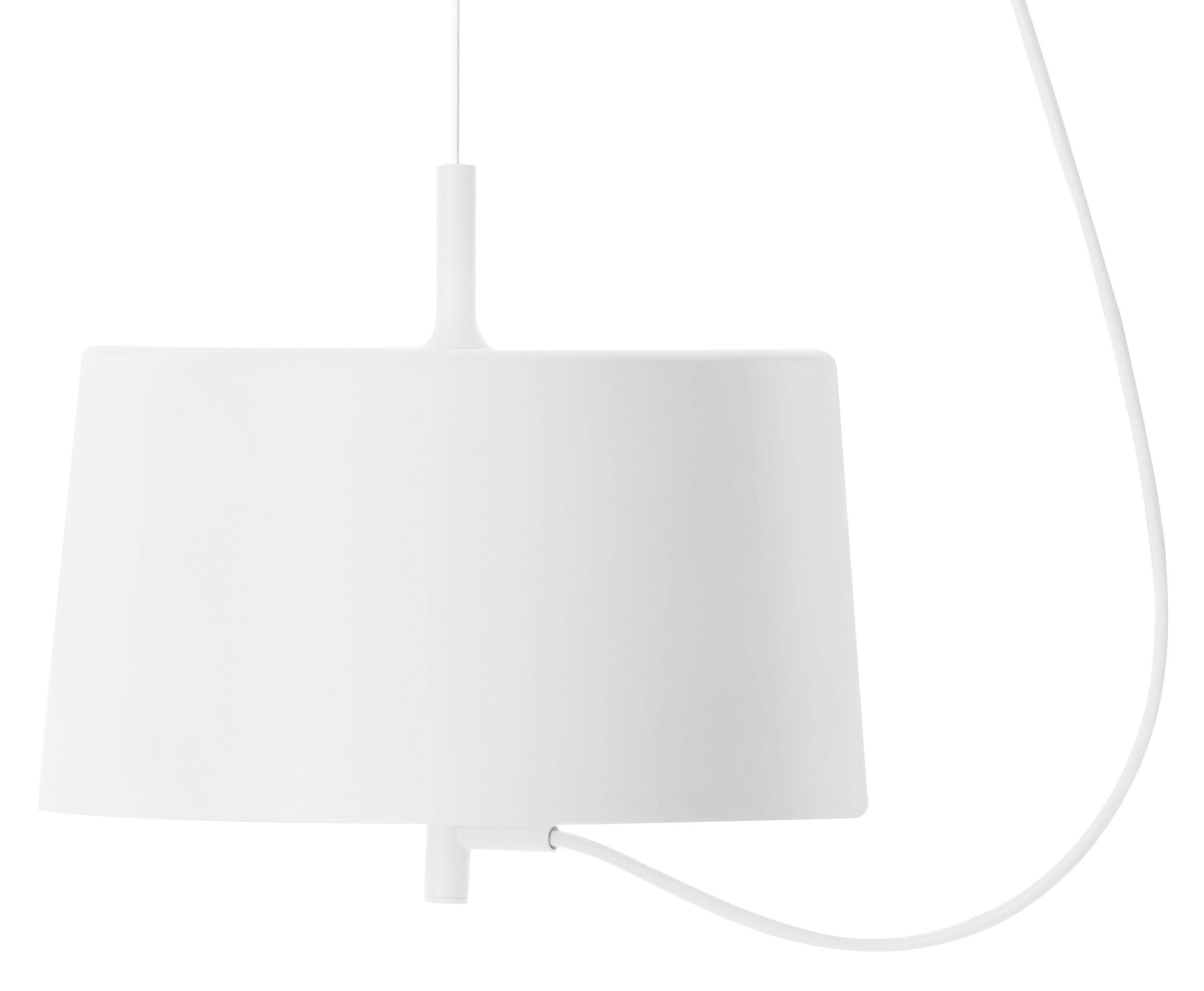 Lighting - Pendant Lighting - Nendo Cylinder w132s Pendant - Ø 28,5 cm by Wästberg - White - Steel