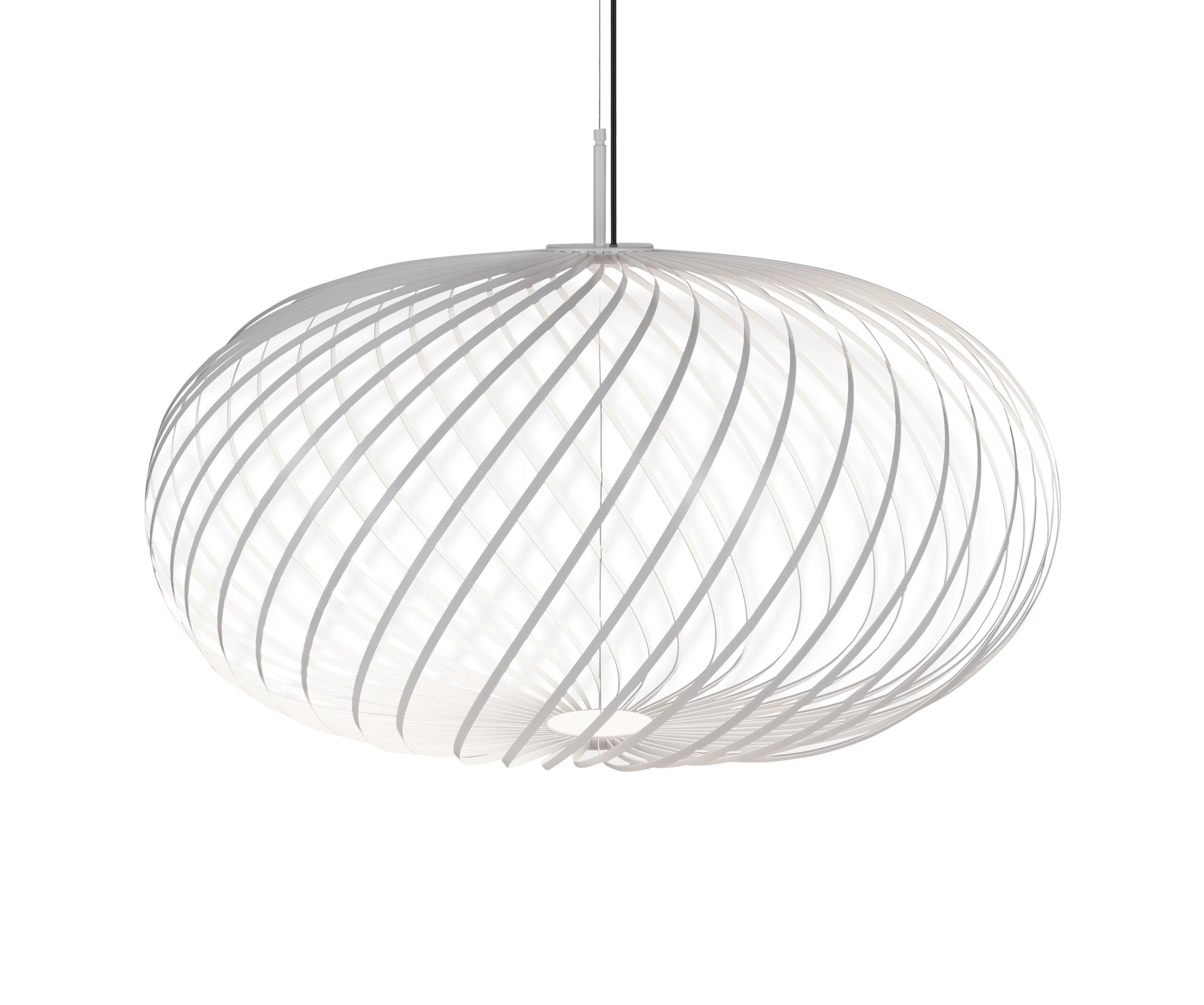 Lighting - Pendant Lighting - Spring Medium LED Pendant - / Ø 79 x H 45 cm - Adjustable steel strips by Tom Dixon - White - Stainless steel
