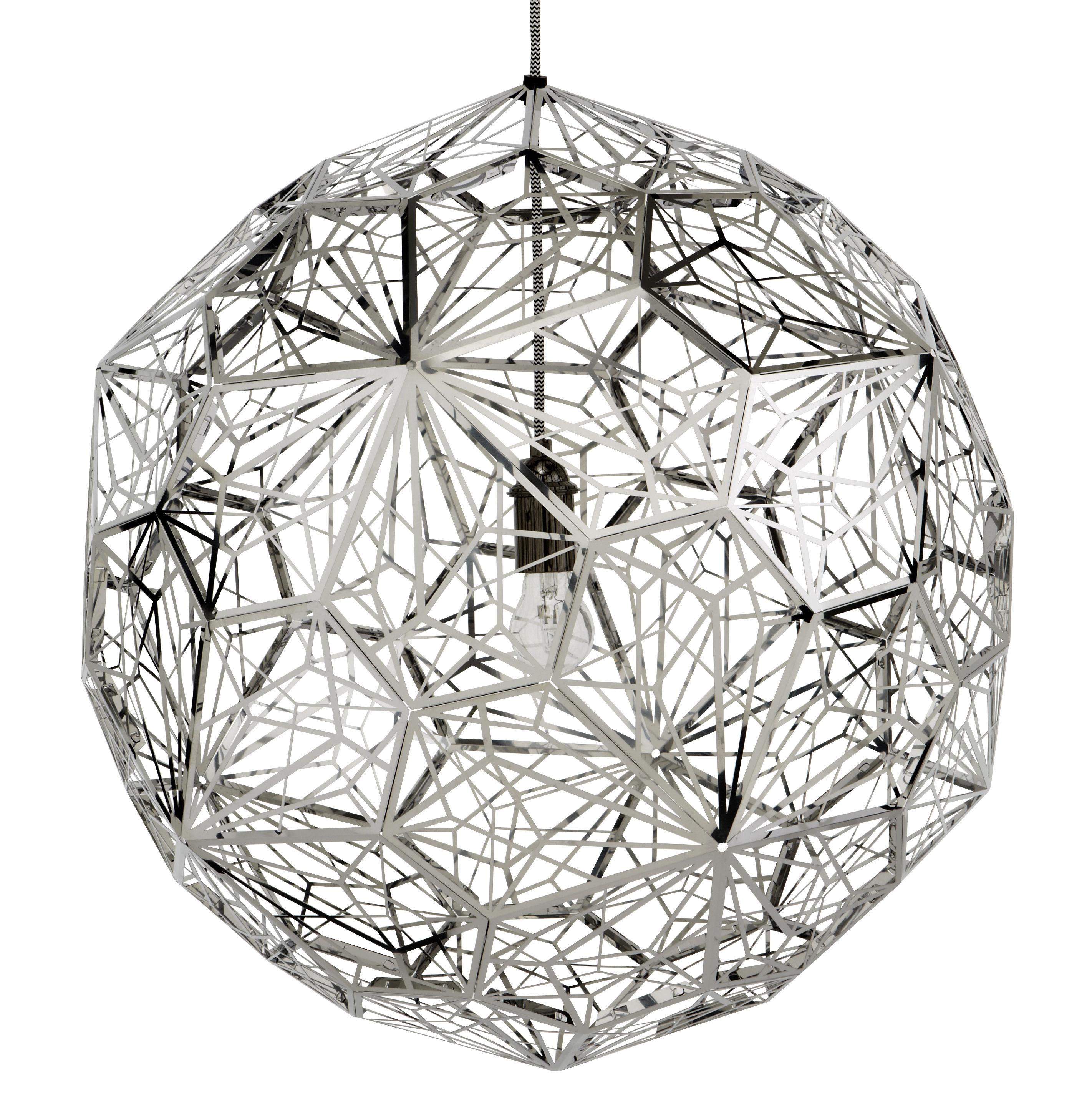 Leuchten - Pendelleuchten - Etch Web Pendelleuchte - Tom Dixon - Stahl - polierter rostfreier Stahl