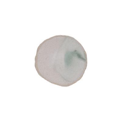 Tableware - Plates - Wabi Petit fours plates - / Ø 15 cm - Handmade stoneware by Jars Céramistes - Green - Enamelled sandstone