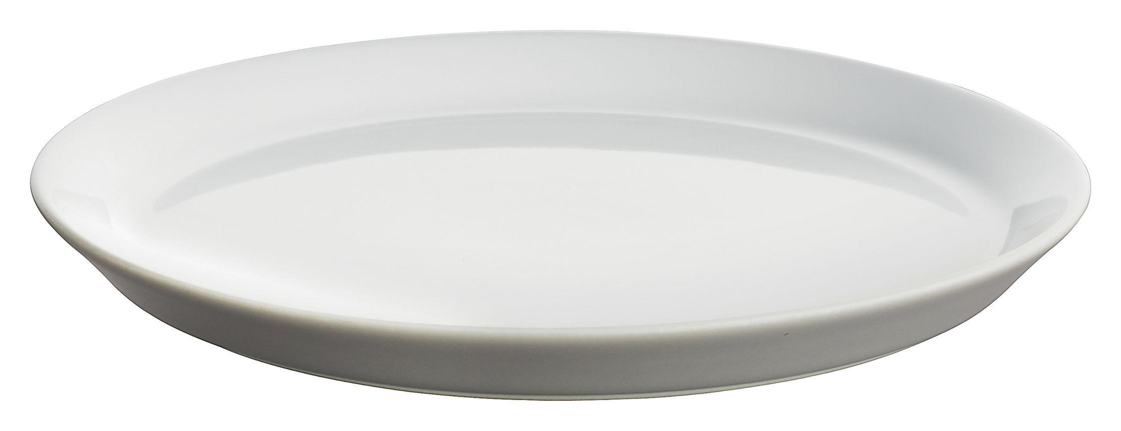 Tavola - Piatti  - Piatto da dessert Tonale di Alessi - Grigio chiaro/interno bianco - Ceramica stoneware