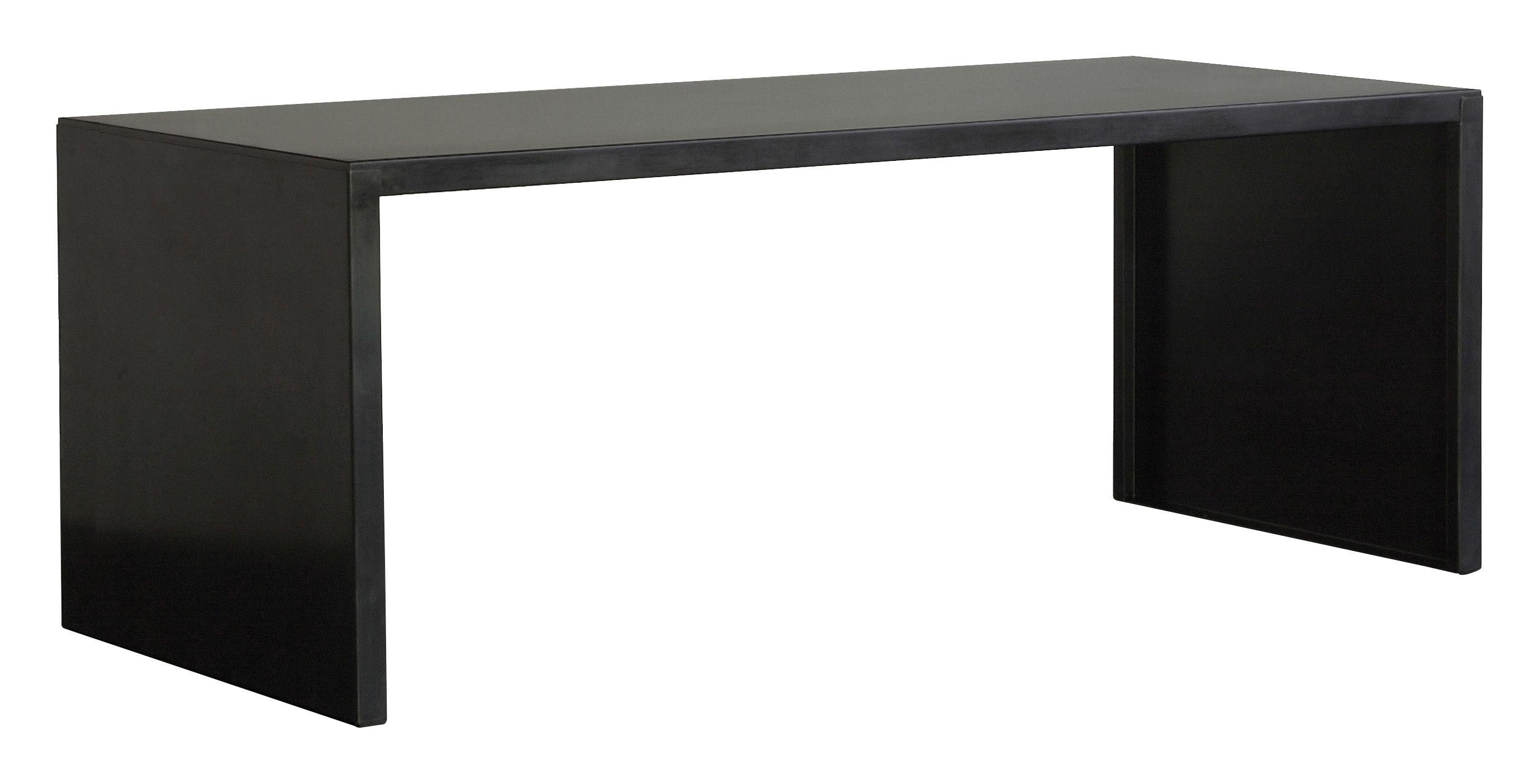 Möbel - Tische - Big Irony Desk rechteckiger Tisch - L 160 cm - Zeus - Phosphatiertes Stahlblech schwarz - 160 x 75 cm - phosphatierter Stahl