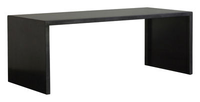 Furniture - Dining Tables - Big Irony Desk Rectangular table - L 160 cm by Zeus - Black phosphated steel - 160 x 75 cm - Phosphated steel