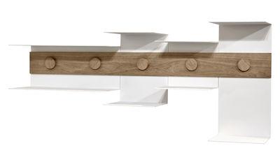 Arredamento - Scaffali e librerie - Mensola Junction / L 120 cm - Serax - Bianco / Legno naturale - Acciaio, Rovere
