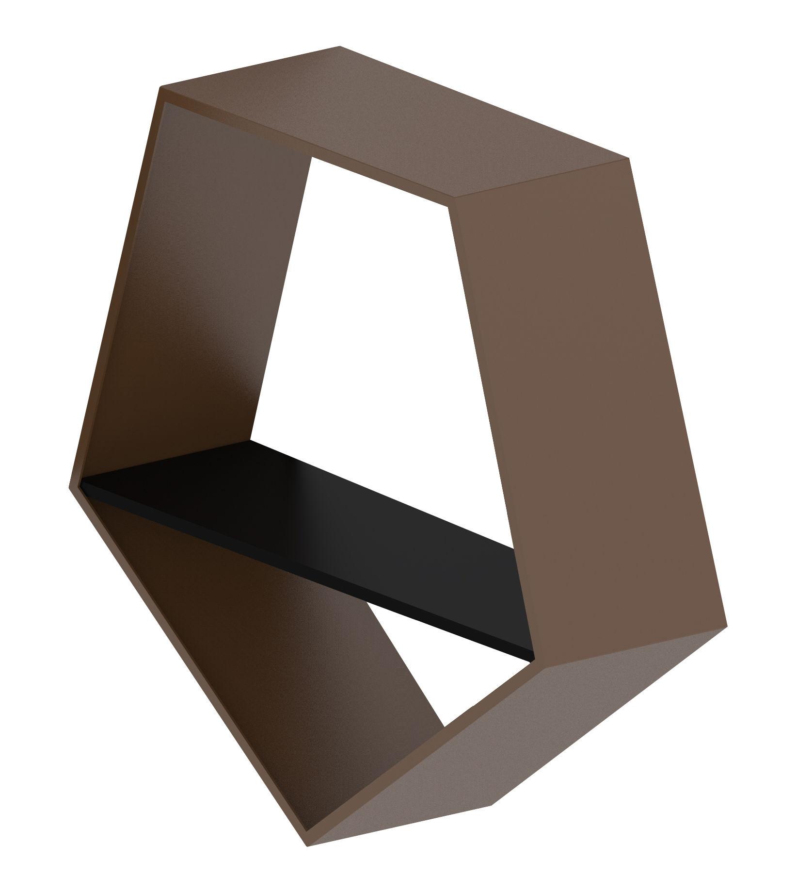 Arredamento - Scaffali e librerie - Scaffale Penta Rack  Small - / L 56 x H 54 x Prof. 20 cm di Zeus - Mensola / Bronzo - Acciaio verniciato
