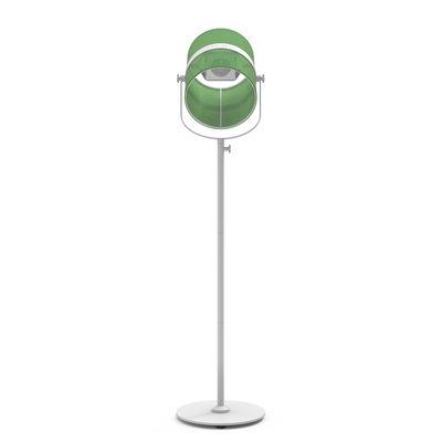 Lighting - Floor lamps - La Lampe Paris LED Solar floorlamp - / Solar by Maiori - Structure : White - Diffuser : Green - Fabric, Painted aluminium