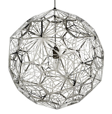 Illuminazione - Lampadari - Sospensione Etch Web di Tom Dixon - Acciaio - Acciaio inossidabile lucido