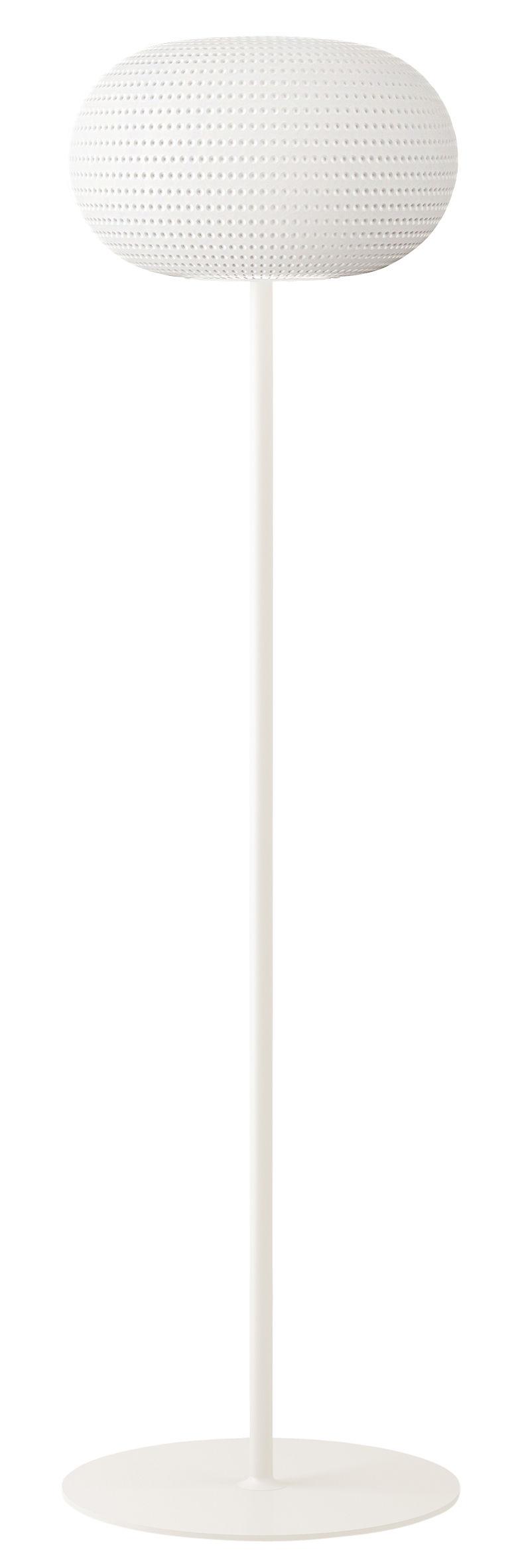 Leuchten - Stehleuchten - Bianca LED Stehleuchte - Fontana Arte - Blanc / Pied blanc - geblasenes Glas, lackiertes Metall