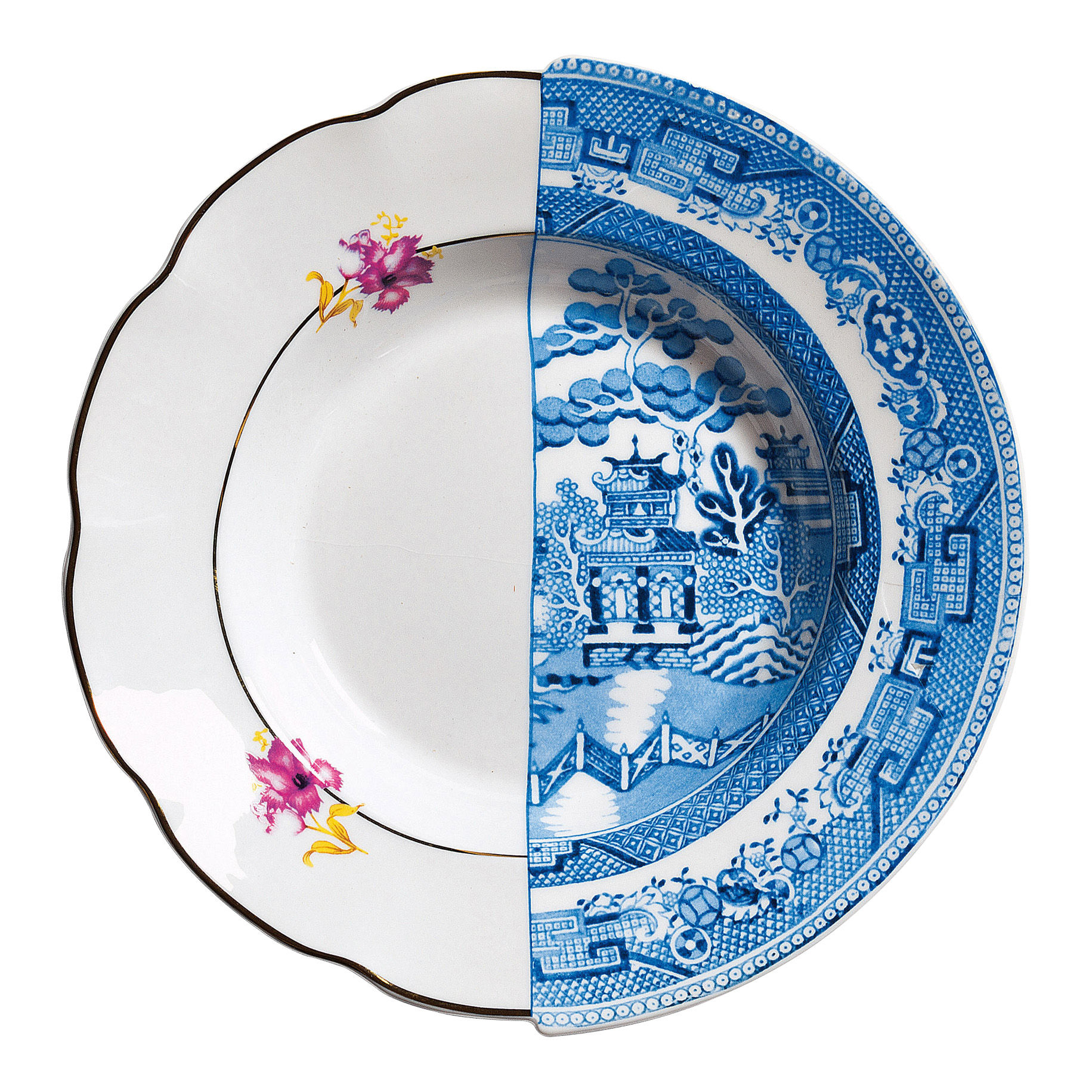 Tischkultur - Teller - Hybrid Fillide Suppenteller Ø 25,4 cm - Seletti - Fillide - Porzellan