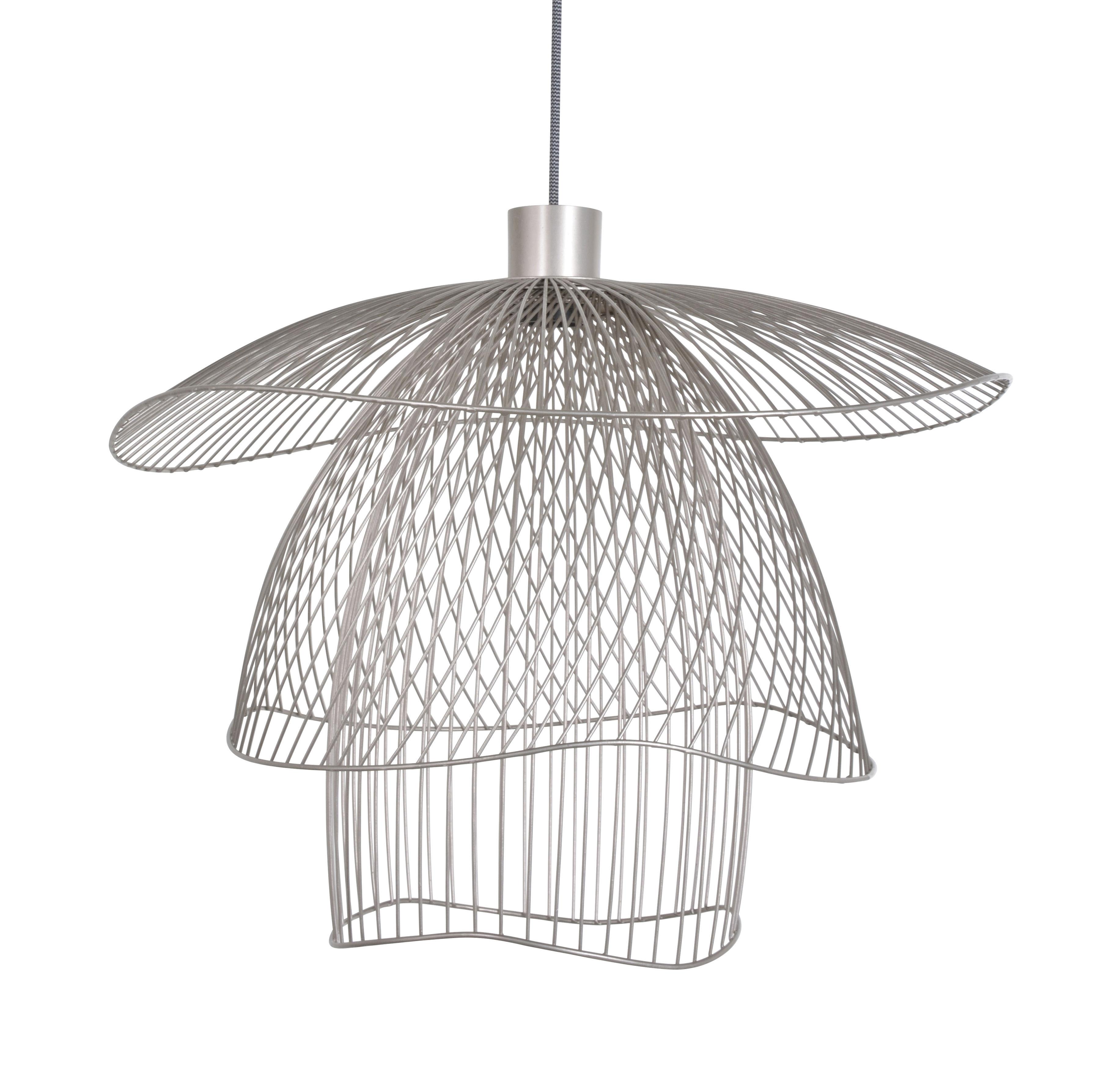 Luminaire - Suspensions - Suspension Papillon Small / Ø 56 cm - Forestier - Cuivre rose - Acier thermolaqué