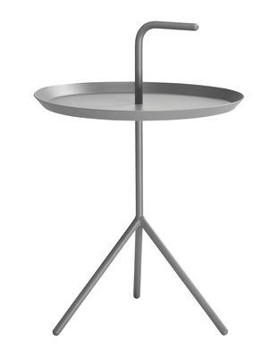 Table basse Don't leave Me Ø 38 x H 44 cm Hay gris en métal
