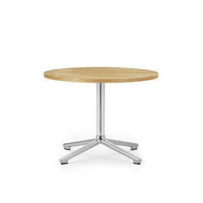 Table basse Lunar / Ø 60 x H 45 cm - Chêne naturel - Normann Copenhagen bois naturel en bois
